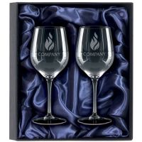 2 White Wine Glasses Gift Set  -KA037
